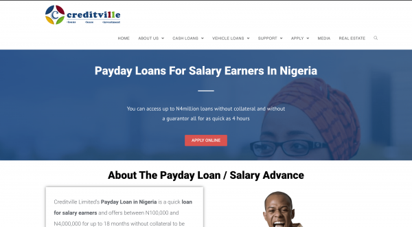 Creditville - Payday loans up to N4.000.000